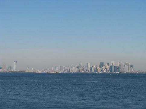 manhattan island seen from the ferry boat.jpg